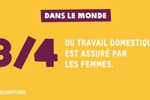 Veille  3/4 du travail domestique est assuré par les femmes