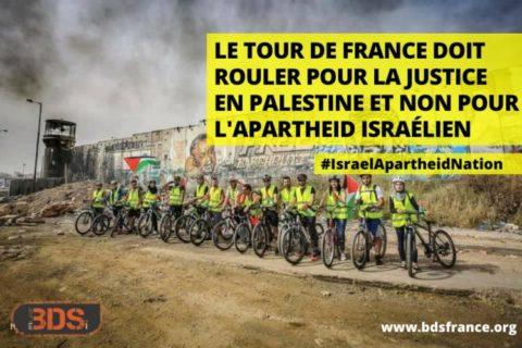 Veille  Israël hors du tour de France 2021 ! – Communiqué de la campagne BDS France